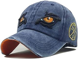 Gorra de Beisbol Sombrero Algodón Lavado Hombres Gorra de béisbol Sombreros Snapback Hip Hop para Mujeres Bordado Casual Gorras de Ojo de halcón