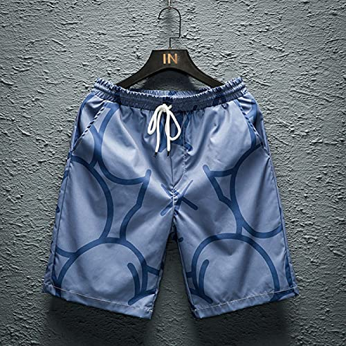 ShZyywrl Pantalones Cortos De Hombre Pantalones Cortos De Verano Pantalones Cortos Holgados De Gran Tamaño para Hombre Pantalones Cortos Deportivos De Poliéste