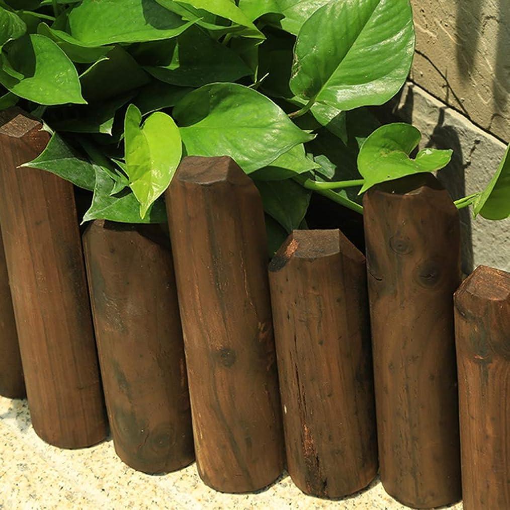 JIANFEI 木製 ボーダーフェンス家の装飾 フラワーベッドエッジ 植物保護 耐食 防水 、4つのサイズ (Color : Brown, Size : 20x120cm)