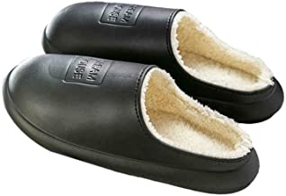 Unisex waterdichte warme pantoffels, antislip pluche gevoerde huispantoffels Indoor Outdoor schoenen voor dames heren
