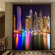 Limingxv Wallpaper 3D Aesthetic City Scenery Night Scene Arcade Background Wall Murals-250X175Cm