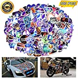 zheyistep Laptop Stickers, Computer Stickers for Laptop Water Bottles Car Bumper Skateboard Guitar Bike Luggage Kids Waterproof Vinyl Decals Cool Graffiti Stickers Pack (100 Pcs Galaxy Stickers)