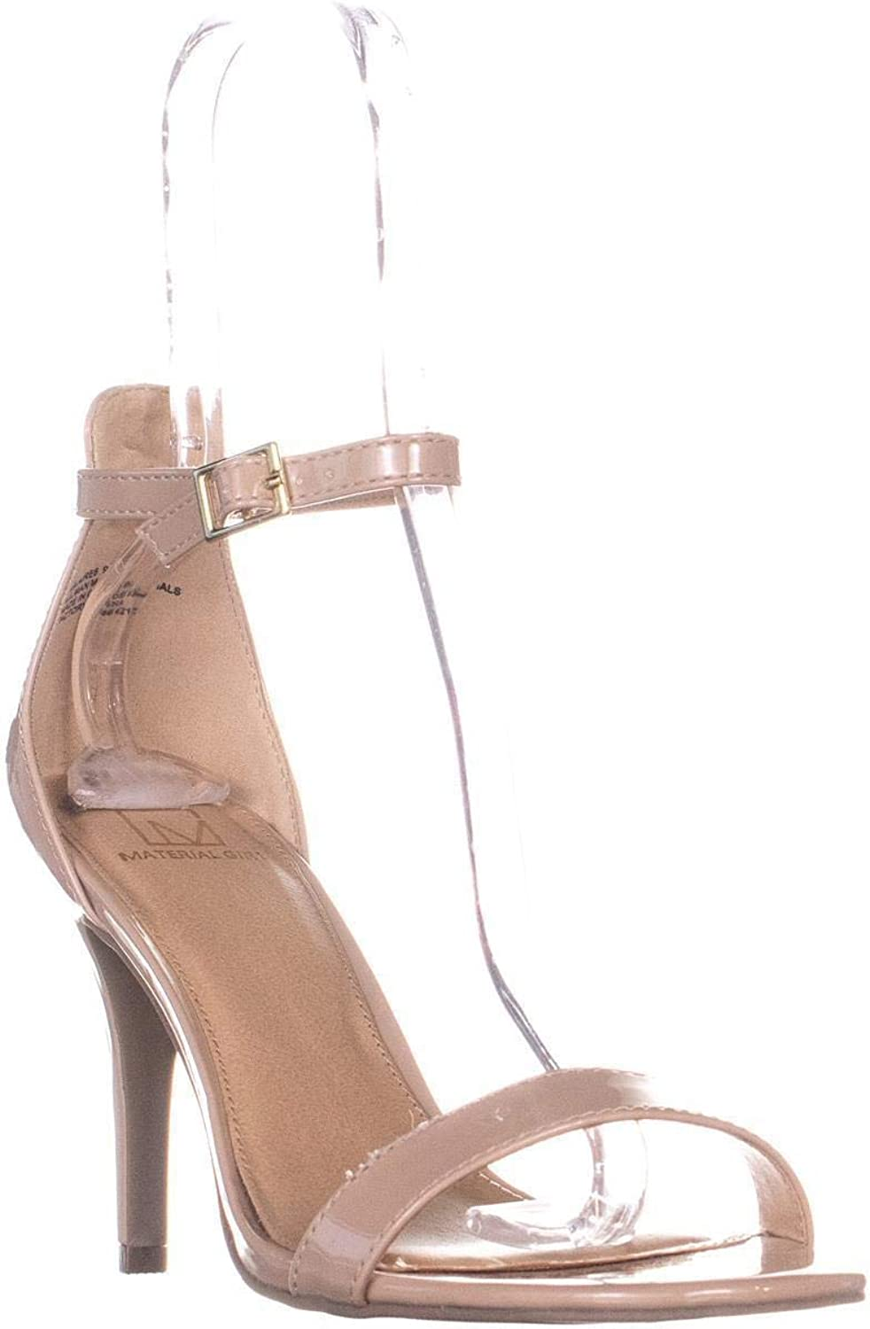 Material Girl Womens Blaire Open Toe Formal Ankle Strap Sandals, Nude, Size 9.0