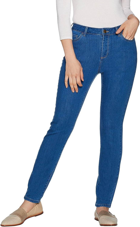 LOGO by LORI GOLDSTEIN Womens Plus Stretch Skinny Jeans 18 Dockside Blue A297094