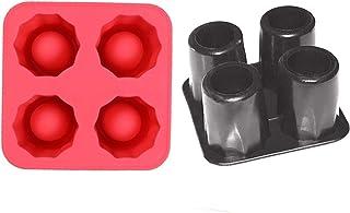 Bandeja de hielo con forma de cubo de hielo para bebidas frías y congelación, molde