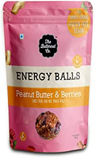 The Butternut Co. Energy Balls Peanut Butter & Berries - Dates, Dried Fruit & Nut Snack Balls 288g (Pack of 6) 100% Natura...