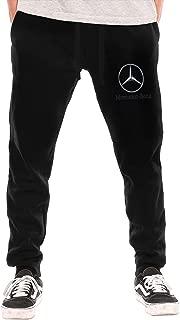 SHENGN Men's Personalized General Motors Mercedes Benz Logo New with Pockets Jogger Pants Black