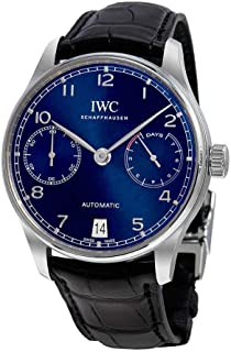 IWC Portugieser Chronograph Automatic Blue Dial Mens Watch IW500710