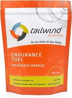 Tailwind Nutrition Mandarin Orange Endurance Fuel 50 Serving - Hydration Drink Mix with Electrolytes, Carbohydrates - Non-...