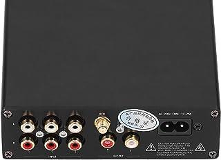 Faceuer Sintonizador de Volumen, preamplificador multicanal Sintonizador de Volumen Aleación de Aluminio Negro Bajo Nivel ...