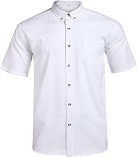 Short Sleeve Shirts for Men Big and Tall,Mens Dress Shirts,Short Sleeve Button Down Shirts,Jeopace Mens Short Sleeve Button Down Dress Shirts,Business Casual