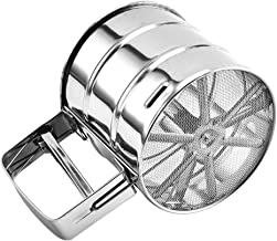 Stainless Steel Sifter/Sieve - For Flour, Cocoa and Icing Sugar - One Hand Operation - Handheld Trigger Action
