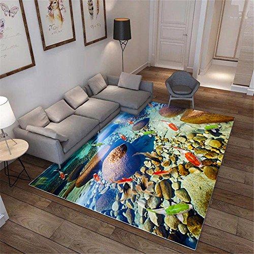 ADLFJGL Wohnzimmerteppiche Schlafzimmerteppiche Türteppiche Pastorale Art 3D Gedruckte Teppiche Badematten C Teppiche