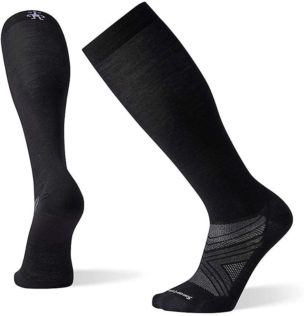 Smartwool Men's PhD Ski Ultra Light Over-the-Calf Merino Wool Socks, Military Olive, Extra Large