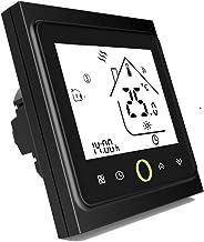 Termostato Inteligente para caldera de gas/agua,Termostato Calefaccion Wifi Pantalla LCD (pantalla TN) Botón táctil retroi...