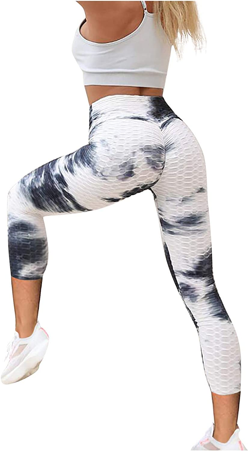 JOAU Women's High Waist Free shipping Yoga In stock Pants Workout Control Tummy Ruched
