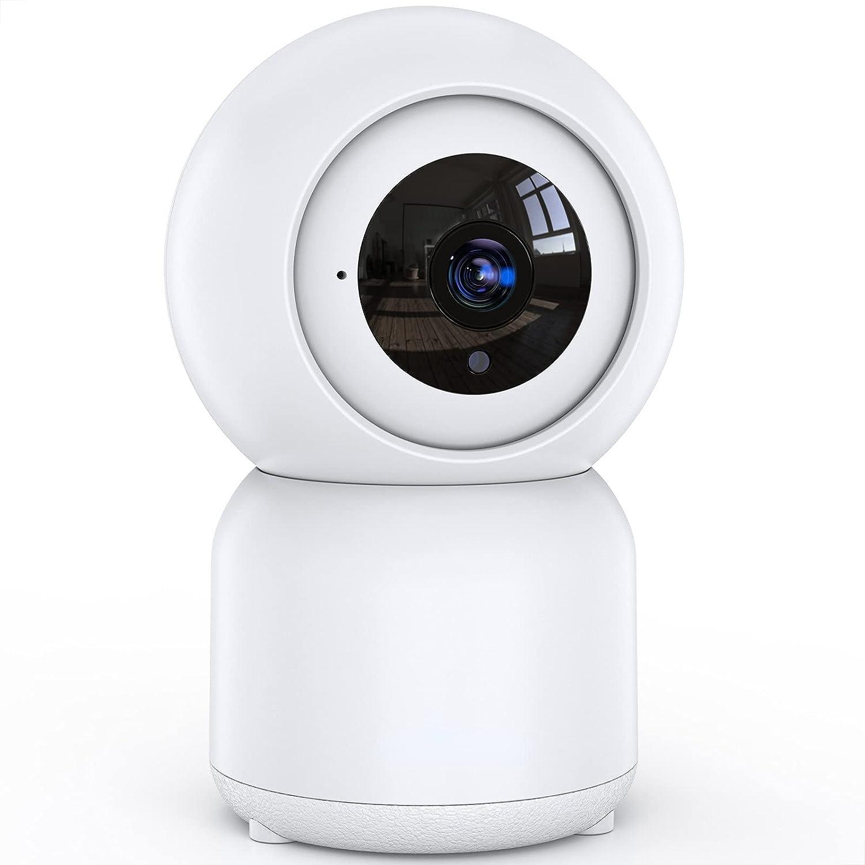 Cámara Vigilancia WiFi Interior, 1080P Cámara IP WiFi, Detección de Movimiento, Visión Nocturna, Conversación Bidireccional, Control Remoto, Trabaja con Alexa, Monitor para Bebé/Mascota/Tienda