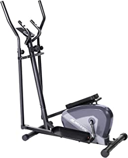 MaxKare Exercise Bike Cardio Training Elliptical Trainers-Portable Upright Fitness Workout Bike Machine,8-Level Magnetic Resistance,LCD Monitor,Heart Rate Monitor,Quiet Driven,Calories Burned