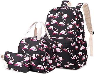 Rucksack für Mädchen Schultasche Set Netter Einhorn Rucksack mit Lunch Bag und Federmäppchen Wasserdicht 3 in 1 Student Bo...