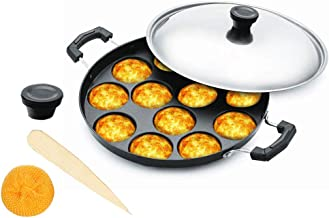 Non Stick Appam Pan,Appam Maker,12 Pits Appam Maker, Nonstick Appam Pan,Appa Chetty Paniyaram Pan Patra,Tawa Non Stick