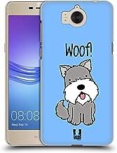 Head Case Designs Schnauzer Happy Puppies Hard Back Case Compatible for Huawei Y5 (2017) / Y6 (2017)