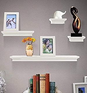 Shelving Solution 6 Pieces Wall Shelf Set (White)