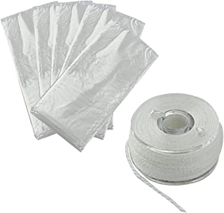 Jili Online 50Pieces PVA Water Soluble Bait Bags 7x15cm/2.8x6inch with 1 Piece Dissolving PVA String 20m