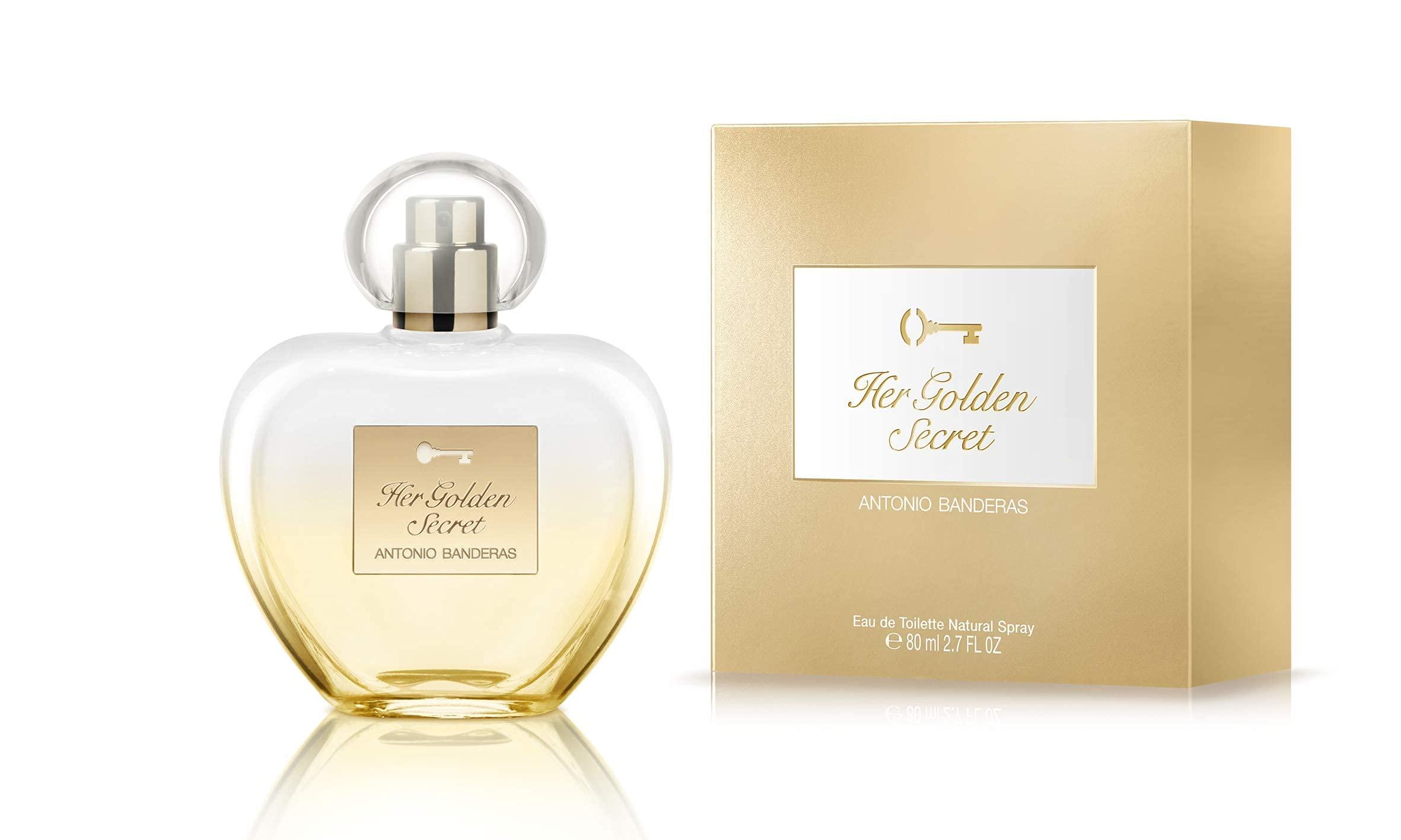 Antonio Banderas Perfumes - Her Golden Secret - Eau de Toilette Spray for Women, Floral and Oriental Fragrance - 2.7 Fl Oz