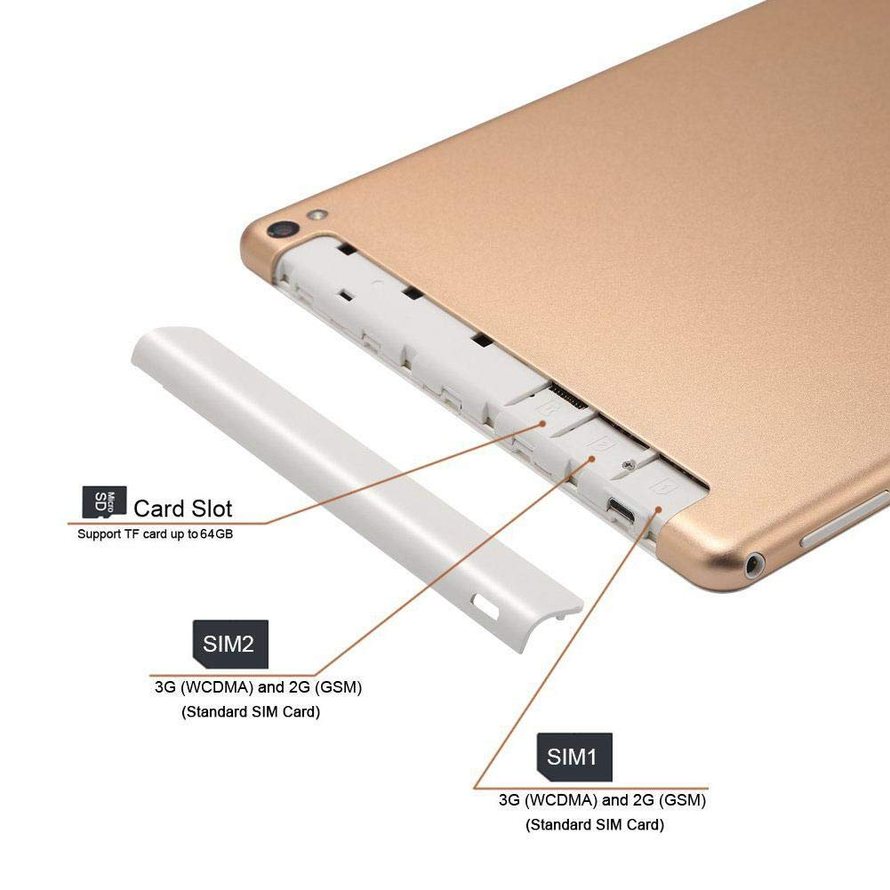 Anna-neek Tablet 10.1 Pulgadas Octa Core 3G 32G Llamada telefónica Android 7.0 WiFi GPS 2 * SIM, Doble Cámara, Bluetooth4.0, Tablet PC 200w + 800w Phablet: Amazon.es: Electrónica