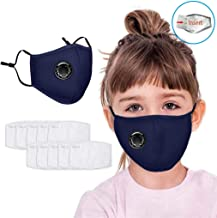 Wacinten Kids Madsk, Activated Filter Substance ??s?, Cotton Washable Reusable Face ??s?, Dust-resistant, A??i-??ll??i??, A??i-???g, with Breathing Valve and 10pcs Fliters