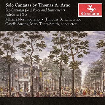Aure, T.A.: Cantatas - The School of Anacreon / Delia / Frolick and Free / The Morning / Lydia / Bacchus and Ariadne /