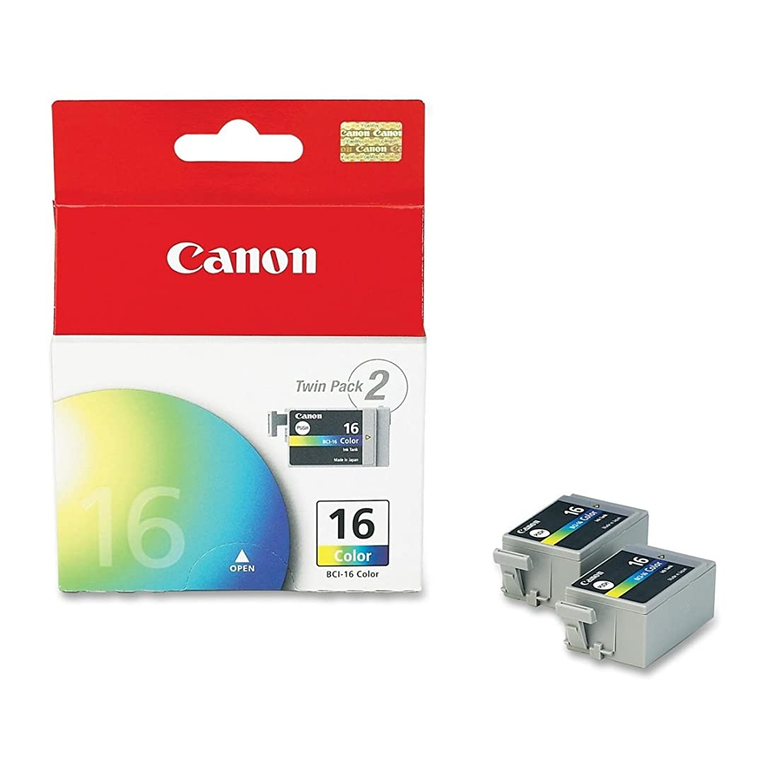 Canon 9818A003 OEM Ink - (BCI-16) Selphy DS700 DS810 iP90 Color Ink Tank Twin Pack