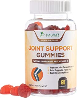 Joint Support Gummies Extra Strength Glucosamine & Vitamin E - Natural Joint & Flexibility Support - Best Cartilage & Immune Health Support Supplement for Men and Women - 60 Gummies