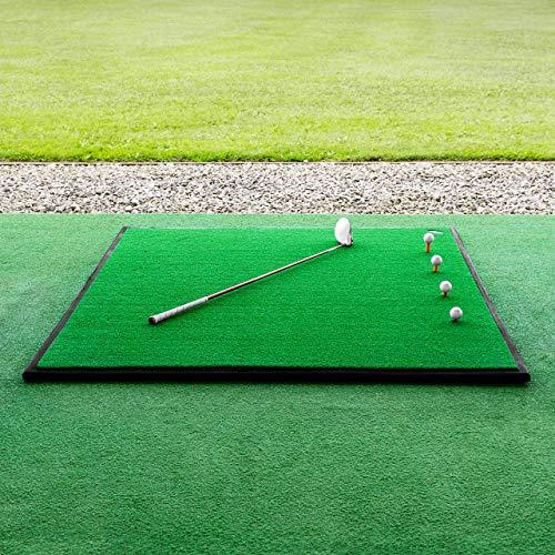 FORB Golf Driving Range Übungsmatte – 30mm Golf Kunstrasen – optionale Gummiunterlage (150cm x 150cm mit Golfballschale & Gummiunterlage)