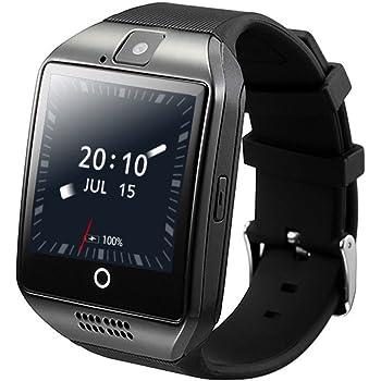 ZOMTOP Q18 Smart Watch teléfono Bluetooth cámara SIM TF Tarjeta SmartWatch para Android Samsung LG Google Pixel y iPhone 7 7Plus 6 6S 6S Plus (Negro): Amazon.es: Electrónica