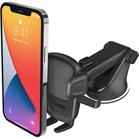 iOttie Easy One Touch 5 Dashboard & Windshield Universal Car Mount Phone Holder Desk Stand for iPhone, Samsung, Moto, Huawei, Nokia, LG, Smartphones