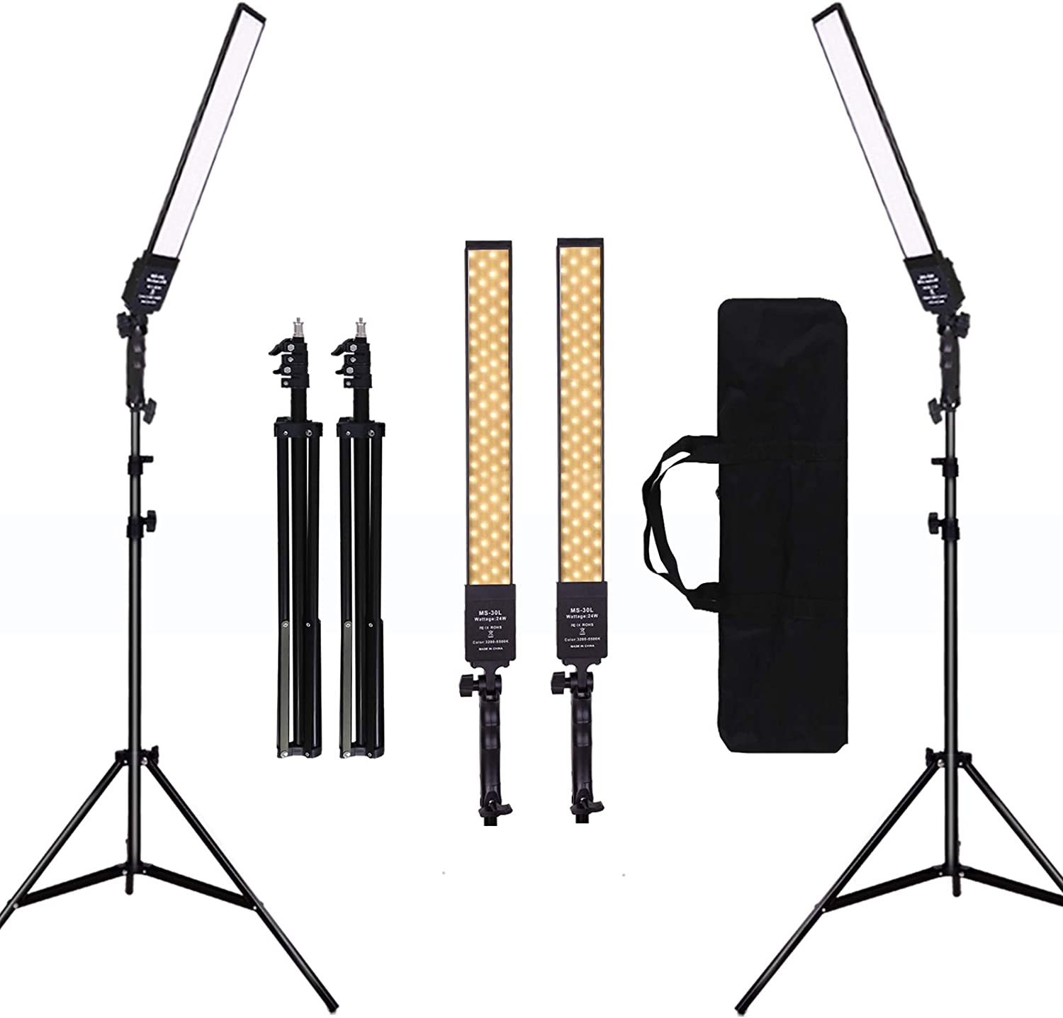 GIJUANRING 2 Packs Dimmable Bi-Color LED with Selling rankings Light Video Tripod Cheap mail order specialty store