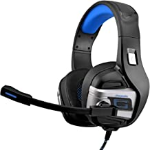 Gaming Headsets Stereo Noise Cancelling Gaming Headphones PS4 PC Xbox one Laptop Mac Surround Sound Microphone Volume Control Gaming Earbuds Over Ear LED Lights Gaming Earphone