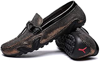 ドライビングシューズ メンズ 蛇柄 スリッポン ローファー 大人 シューズ 靴 メンズ カジュアルシューズ モカシン ビンテージ 靴 小さいサイズ メンズシューズ メンズブーツ ゴールド 春夏 トレンド ブラック シルバー ローファー