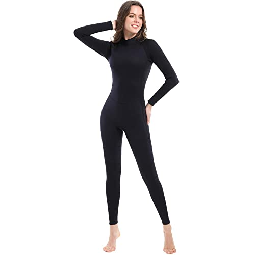 5f5eb12100b5 Dark Lightning Premium CR Neoprene Wetsuit, Women and Mens Full Suit Scuba  Diving Thermal Wetsuit