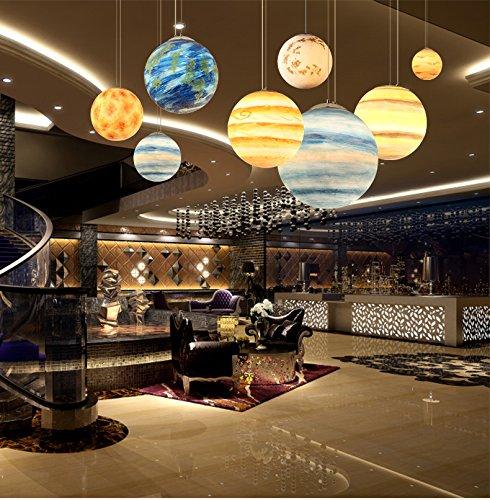 Moon Planet Pendentif Planet Cosmic Earth Lobby Modèle Créatif Café Lunar Hanger (Neptune 40cm)