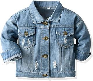 Baby Boys Girls Denim Jacket Kids Toddler Button Down Jeans Jacket Top Coat Outerwear
