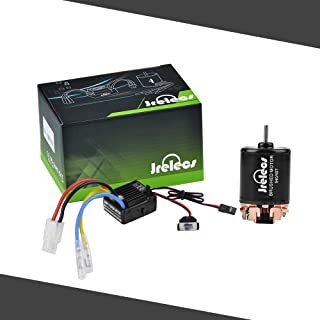 Jrelecs 540 45T 4 Poles Brushed Motor and WP-1060-RTR 60A Waterproof Brushed ESC Electronic Speed Controller with 5V/2A BEC for Axial RC4WD CROSS HPI MIST GMADE D90 D110 TF2 SCX10 ii PG4 MC8 WARAITH Y