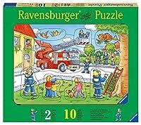 Ravensburger - 03659 - Puzzle - Bois - Pompiers - 10 pièces