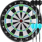 CyeeLife-ピンク ソフトダーツボード 18in Dartboard+6本のダーツ(15g)+6本無傷フック+30個 ブラックチップ,練習 静音 2色は任意である