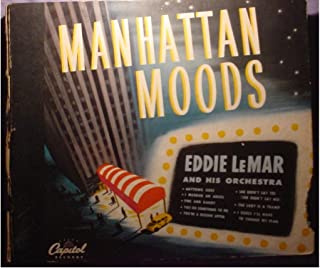Eddie LeMar Original Near Mint 4 Disc 10 Inch 78 Set & Very Nice Original Book Cover - Manhattan Moods - Capitol Records BD-43 - 1947