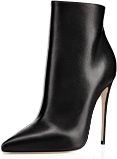 Women's Ankle Boots Closed Pointed Toe Stilettos Autumn Dress Booties