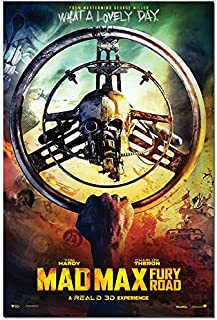 makeuseof 2015 MAD MAX Fury Road Movie Silk Fabric Cloth Poster 24x36inch 185