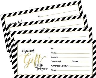 25 x 9 可爱空白礼品证书卡,适合商务、餐厅、Spa、美妆化妆品沙龙、婚礼、新娘、婴儿淋浴定制个性化批量模板套件可打印