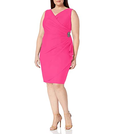 Alex Evenings Plus Size Short Side Ruched Stretch Dress